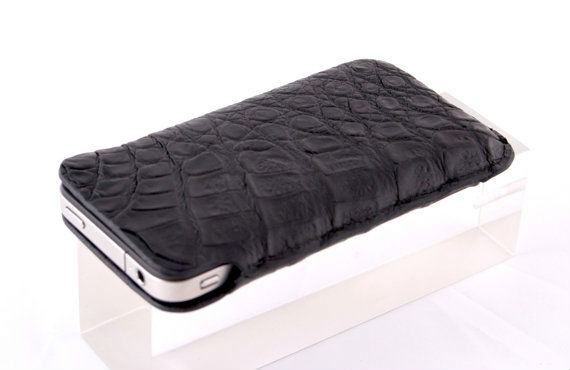 Customize Genuine Crocodile Leather Smartphone Case Sleeve Case