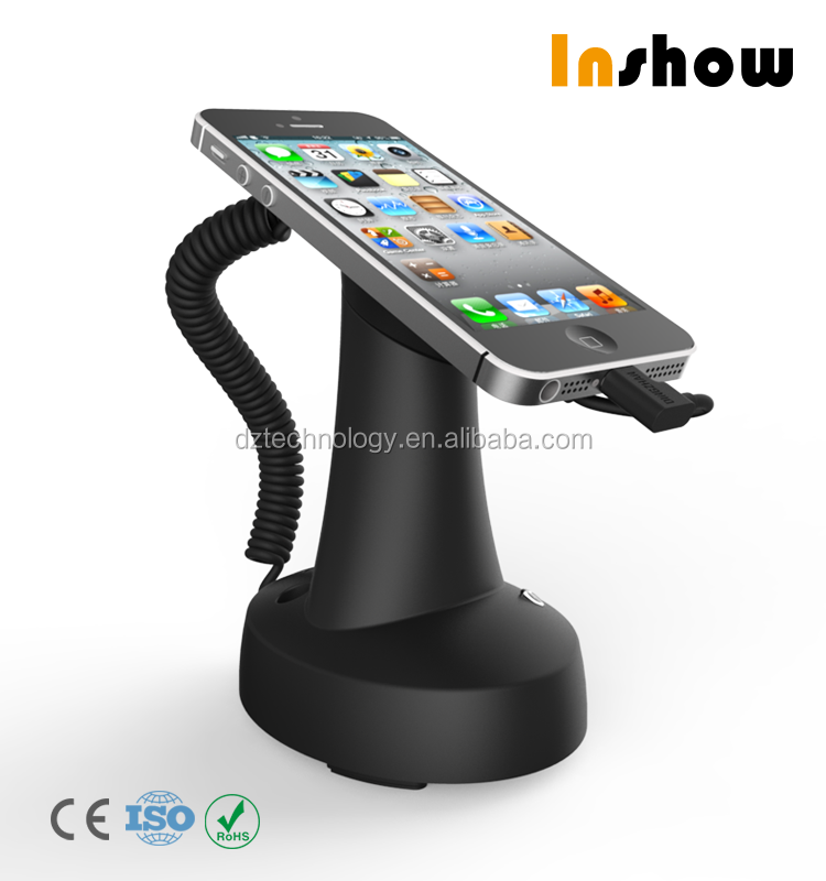 Smartphone cellphone store fixtures anti-theft alarm display stand security display stand