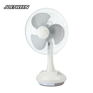 Portable 12v china Solar fan with LED Light Battery operate