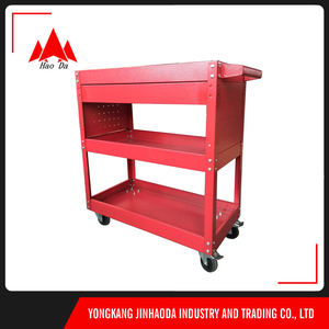 factory price new design workshop tool case box drawer tool trolley red ball bearing drawer steel tool Trolley