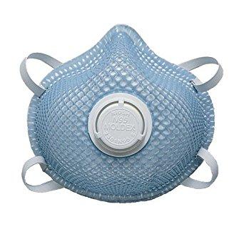 Moldex 507-2301N95 2300 Series N95 Particulate Respirators, Half-Facepiece, 2-Strap, Small, White