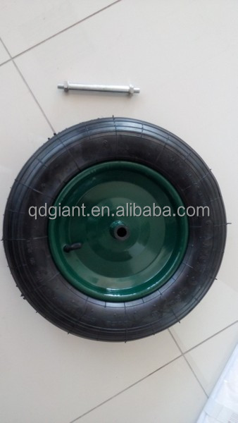 wheel barrow wheel 350-8 with axle