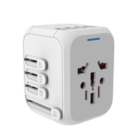 World Travel gift 4 usb travel interchangeable plug power adapter