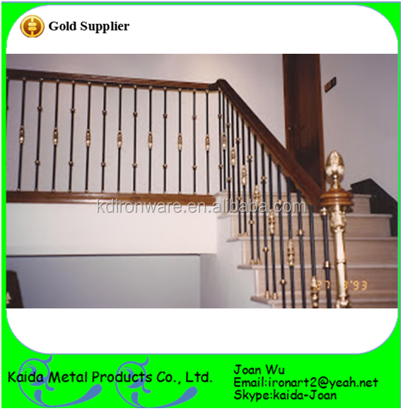 Customized Design Ornamental Iron Railings For Stair Porch