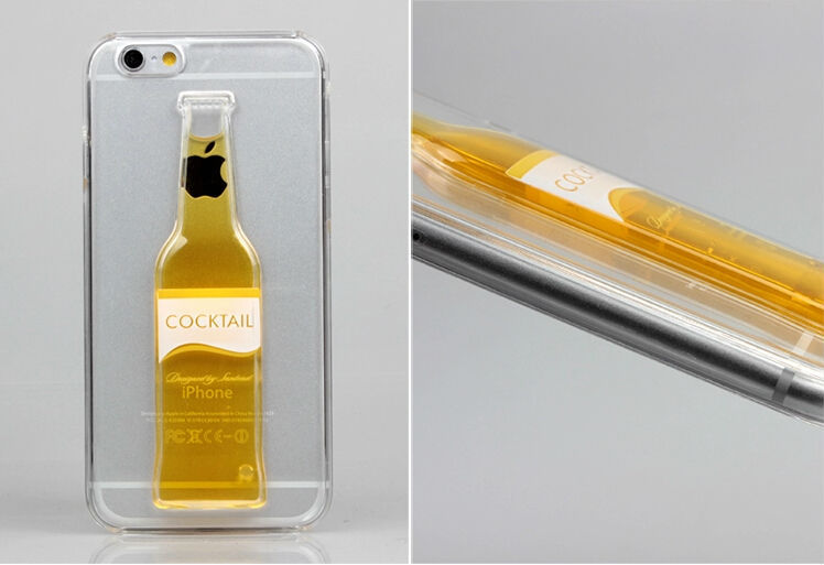 Moving Liquid Beer 3d Red Wine Cup Case For Iphone 6,Vodka Alcohol ...