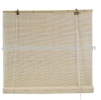 natural color bamboo rollup blind