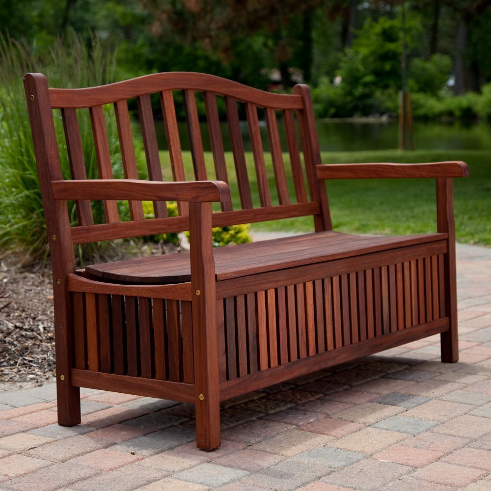 Wondrous Buy Belham Living Richmond 51 In Curved Back Outdoor Wood Andrewgaddart Wooden Chair Designs For Living Room Andrewgaddartcom