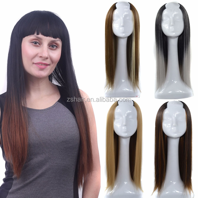 2018 New Arrival Hot Beauty Long Straight U Part Shaped Wig 360 Synthetic  Hair Wig For a7d9be8436