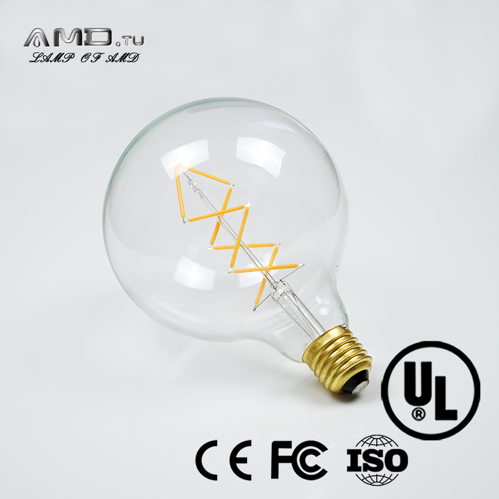 UL certificated G125 E26 E27 B22 energy saving dimmable antique vintage Edison bulb led light bulb