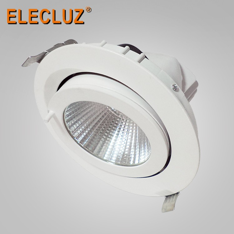 Super Lumens 30w Led Downlight Round Rotary Dly030 Cob Led ...