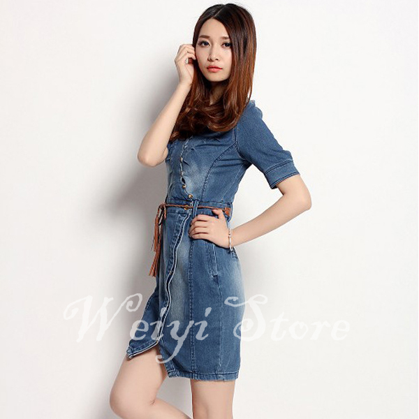 42e4213b74f0 Get Quotations · Free Shipping New Clothes 2014 For Women Dresses Autumn  2014 Vintage Fashion Dresses Denim Short Dress