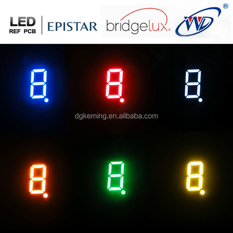 Ali white .3611 single digit wireless led number display