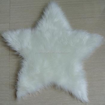 buy rug kids fur product carpet detail faux cloud shape white
