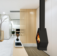 suspended fireplace cheap price and warm fire stoves