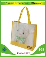 CMYK Color Printed PP non woven with lamination shopping bag China pp laminated non woven bag