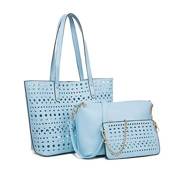 656e760d916 Hot sell women summer beach tote 3 bag set lady designer leather handbags wholesale  china