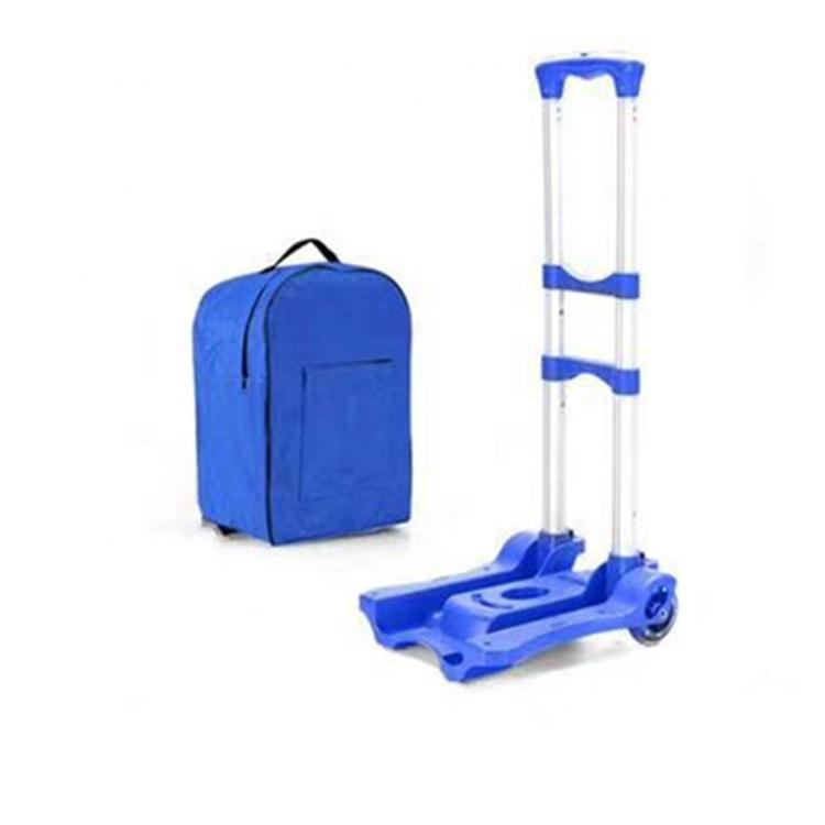 Tragbare Aluminium Warenkorb Klapp Dolly Push Lkw Hand Faltbare Trolley Gepäck Kommerziellen Möbel
