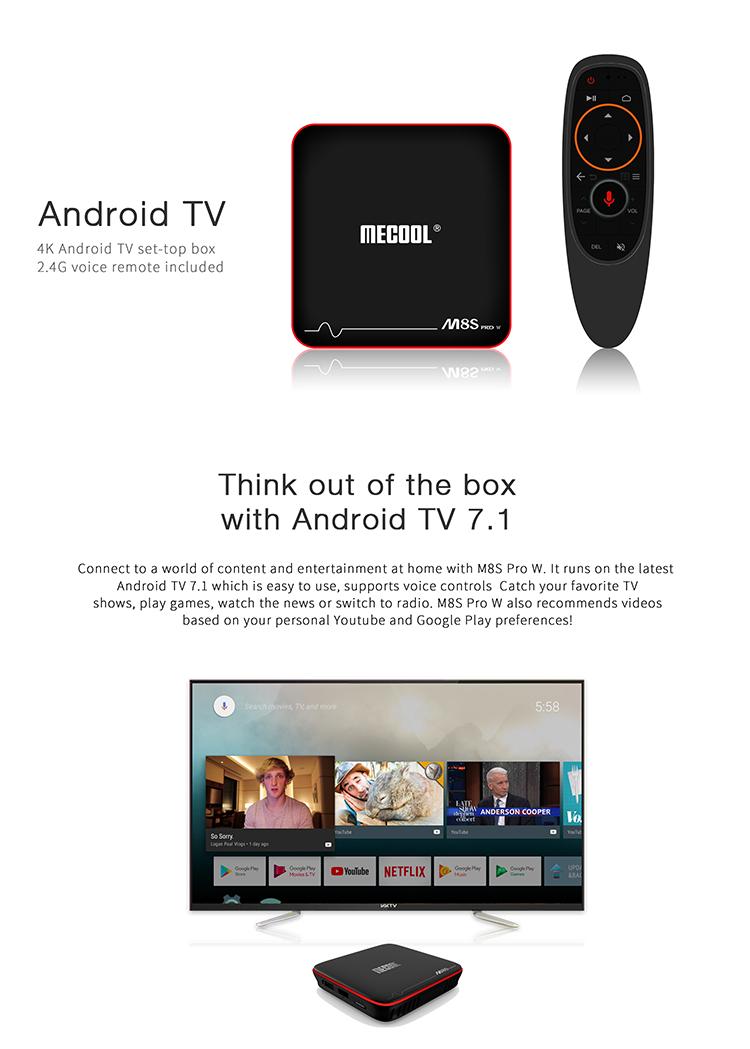 M8s Pro W Stalker 4k Smart Android 7 1 Smart Tv Box Google Play Store App  Download - Buy Smart Tv Box 4k,Google Play Store App Download Android Tv