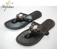 Latest Design Fast Delivery Peep Toe Ladies Flat Sandals