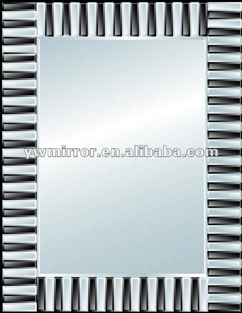 HWM10294 Uneven Zebra crossing rectangle wall mirror