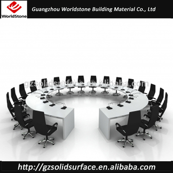 high end artificial marble big meeting table large conference table