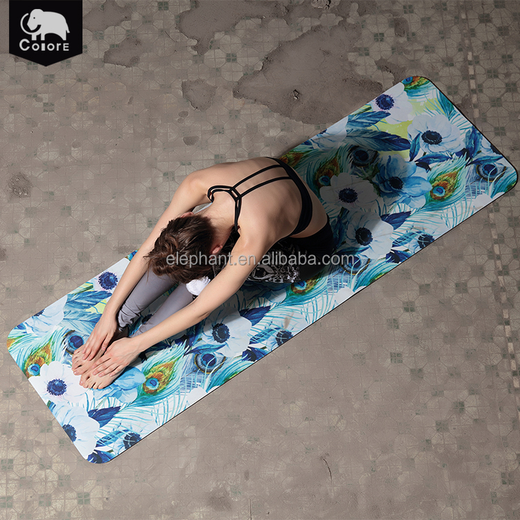Best mats yoga manufacturers printed natural rubber pilates stretching exercise yoga mat