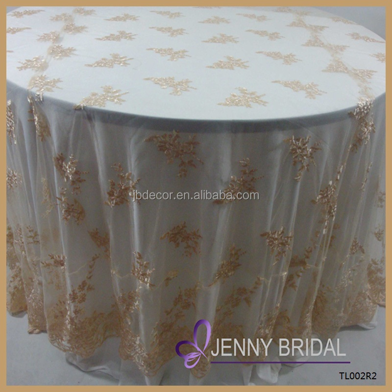 Tl002r2 Alibaba Embroidery Gold Lace Round Cheap Wedding