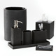 Black Marble Bath Ware Bathroom Accessories Set