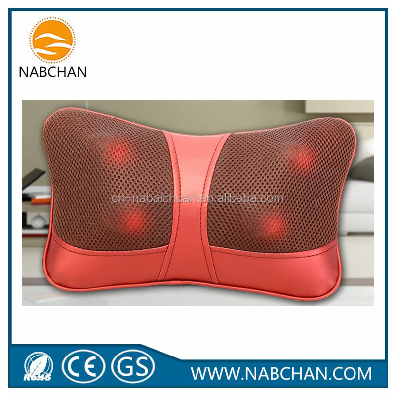 smart massage pillow neck massager breathable mesh fabric auto rolling forward and backward massage pillow