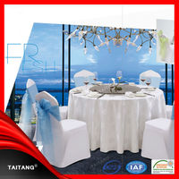 New arrival polyester wedding or banquet wholesale white table cloth polyester tablecloth