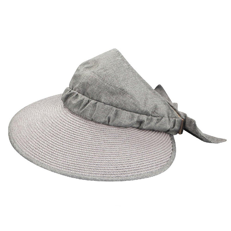 PANDA SUPERSTORE Fashion Girls Khaki Straw Hat Flower