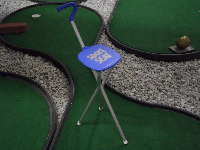 Sport Seat Combo Walking Stick & Seat Bundle Blue