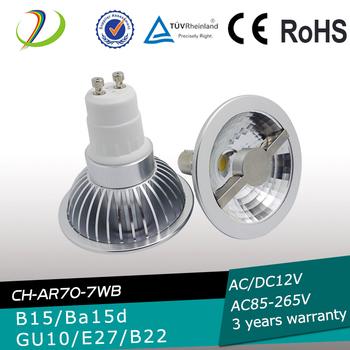 Hot Sale Led Light Ba15d Ar70 Led Lamp 7w 500lm 12v Dimmable Led ...