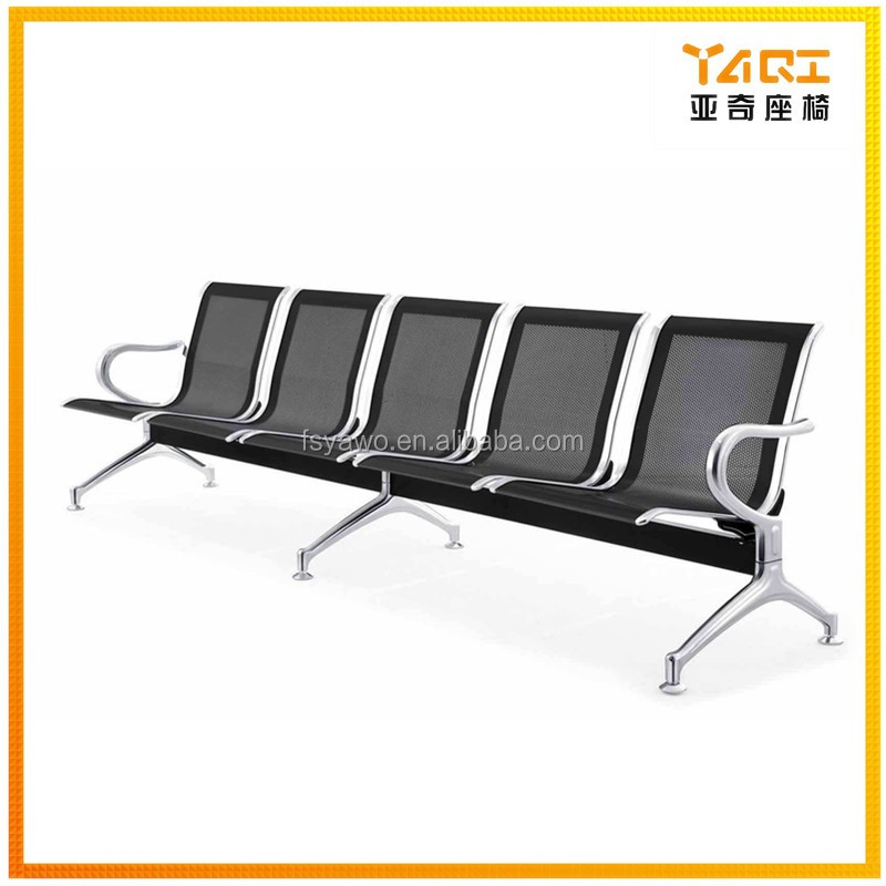 Pleasing Yaqi Furniture Public Waiting Bench Hospital Airport Used Black Color No Arm 5 Seater Metal Gang Chair Ya 23 Buy Gang Chair Metal Gang Caraccident5 Cool Chair Designs And Ideas Caraccident5Info
