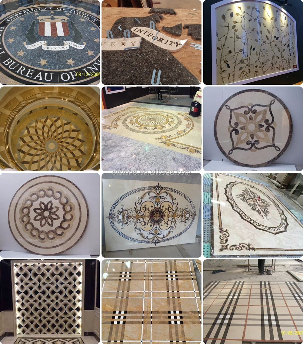 Marble Floor Marquetry : Modern inlay flooring marquetry in design
