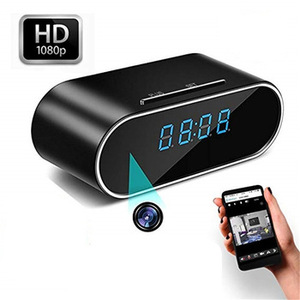 HD 1080P Wifi Hidden Camera Alarm Clock Night Vision/Motion Detection/Loop Recording Home Surveillance Spy Cameras