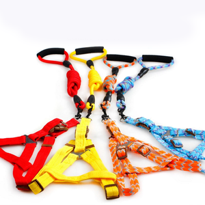 Colorful outdoor pet traction chest rope adjustable wholesale rope dog leash