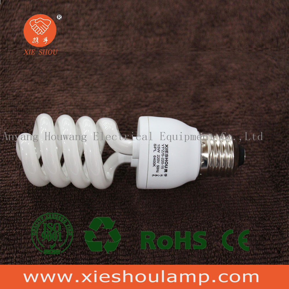 half spiral 15W energy savor fluorescent bulb light