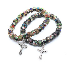 <span class=keywords><strong>칠보</strong></span> <span class=keywords><strong>Beads</strong></span> 묵주 Bracelet withJesus Cross 펜 던 트