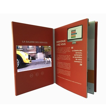 Factory Design Handmade 5 Inch Lcd Video Booklet Manufacturer Video Magazine