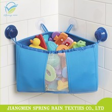 Bathroom corner trilateral storage basket suction toy organizer for baby kids toys
