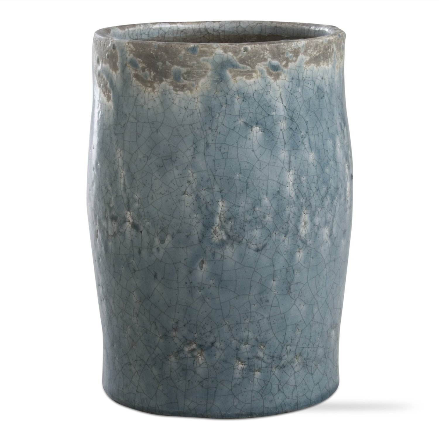 Cheap tall blue vase find tall blue vase deals on line at alibaba get quotations tag 205329 crackle glazed rustic vase tall blue and aqua 825 inch high reviewsmspy