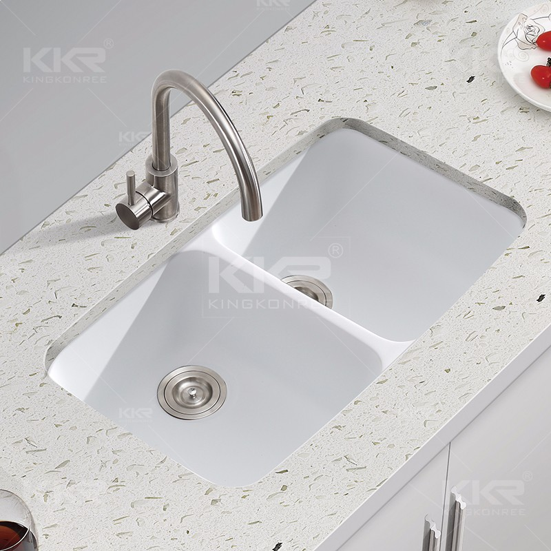 New style artificial stone solid surface quartz kitchen sink