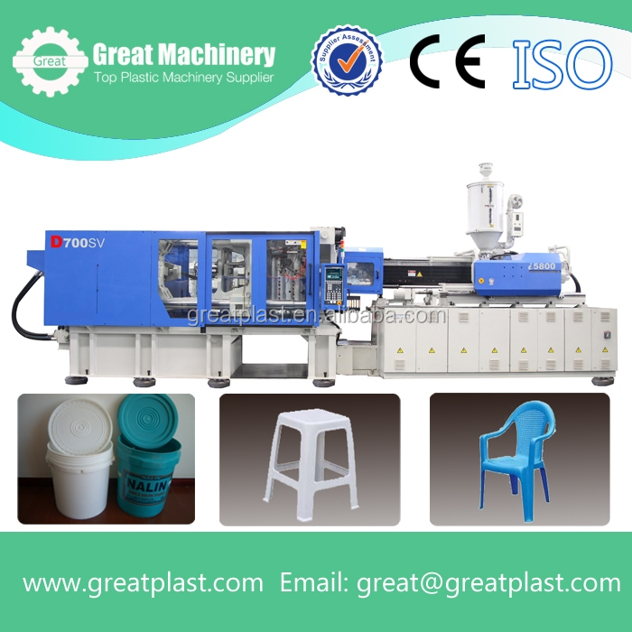 Injection moulding machine for making plastic chair/tables