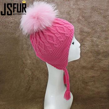 577e0a22e2b 2018 Factory Wholesale Custom Child Earflap Knitting Hat Winter Hats