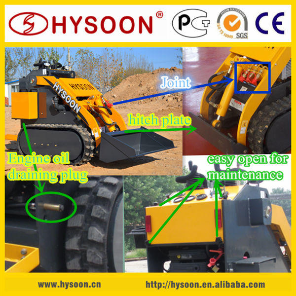 HYSOON track micro skid steer loader for sale