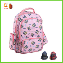 Good quality latest waterproof printed school backpack for children