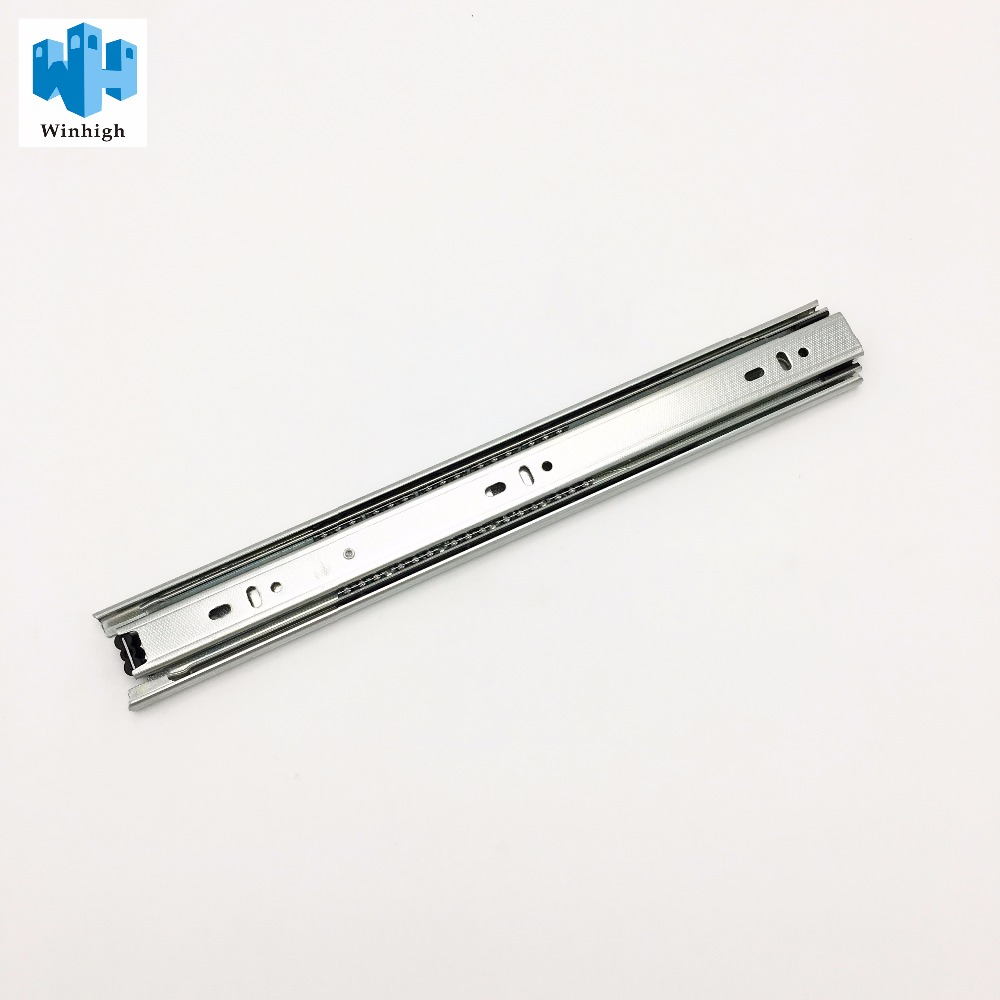 3 Fold Ball Bearing Channel Telescopic Rail Full Extension Drawer Slide