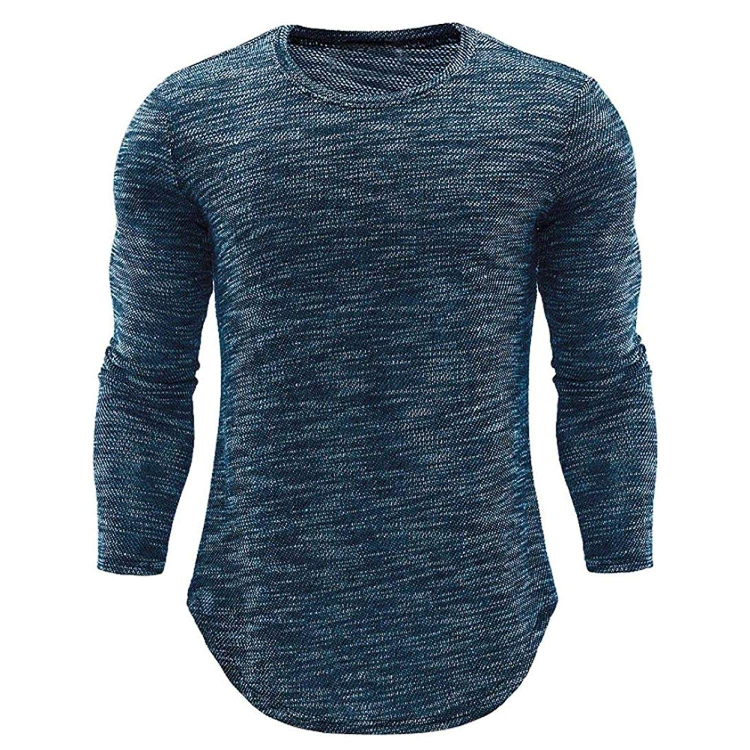 8fefcaba Get Quotations · PHOTNO Mens T Shirts,Slim Fit Long Sleeve Plain Cotton  Pullover Tops Blouse Shirts for