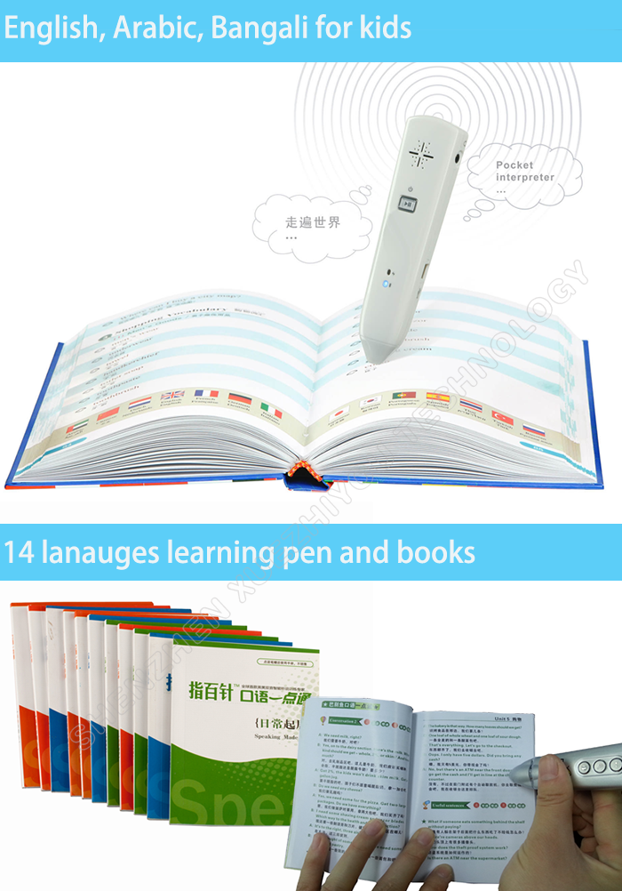 OEM Intelligent Read Pen Wireless Educational Toy Talking Pen Audio Book